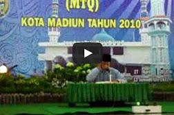 MTQ Kota Madiun - Juara satu Qori Dewasa (Th. 2010)