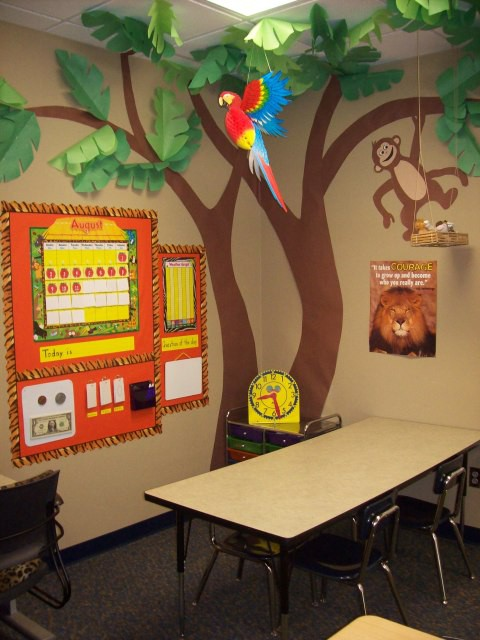 Classroom Decor Jungle ~ Bulletin board class room decoration ideas