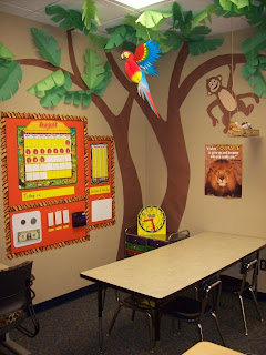 Bulletin board class room decoration ideas for Animal room decoration games