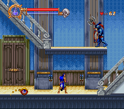 Screenshot of SNES game Castlevania: Dracula X