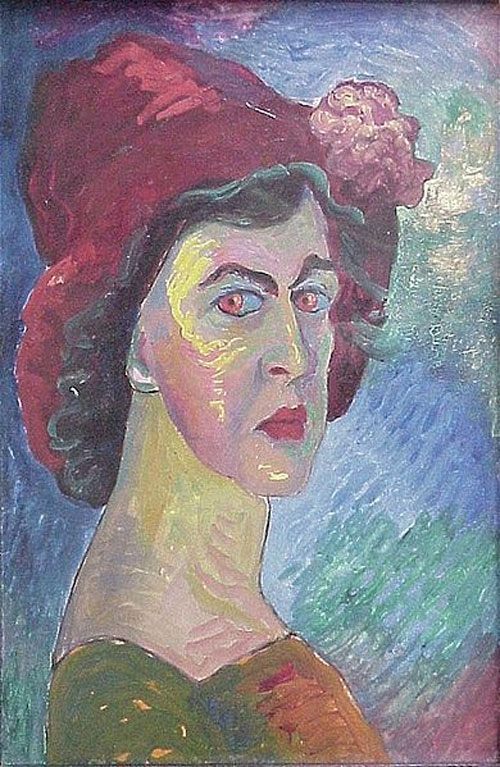 Famous Fauvist Artists Fauvist self portrait inspired