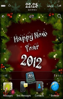 Download Theme BlackBerry Happy New Year 2012