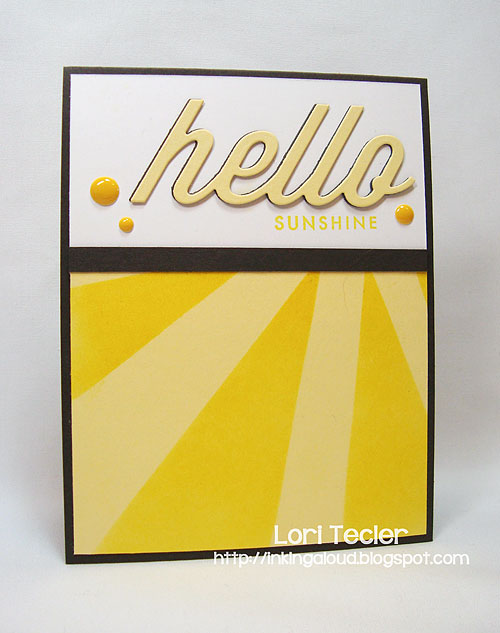Hello Sunshine-designed by Lori Tecler-Inking Aloud-stamps and dies from Papertrey Ink