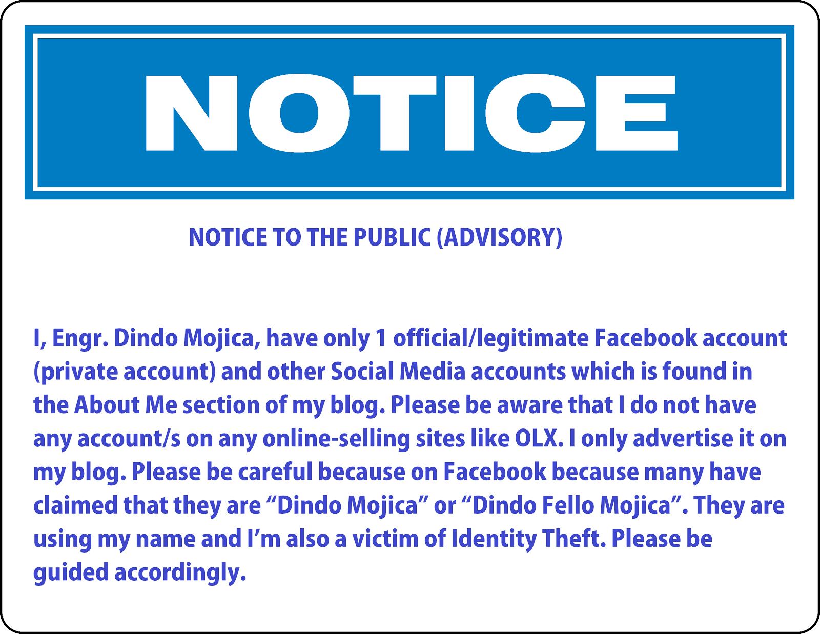 Public Advisory
