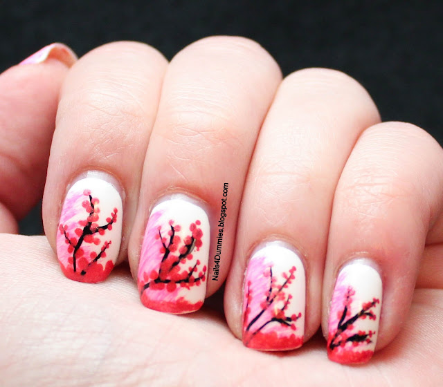 Nails4Dummies - Cherry Blossom Nails