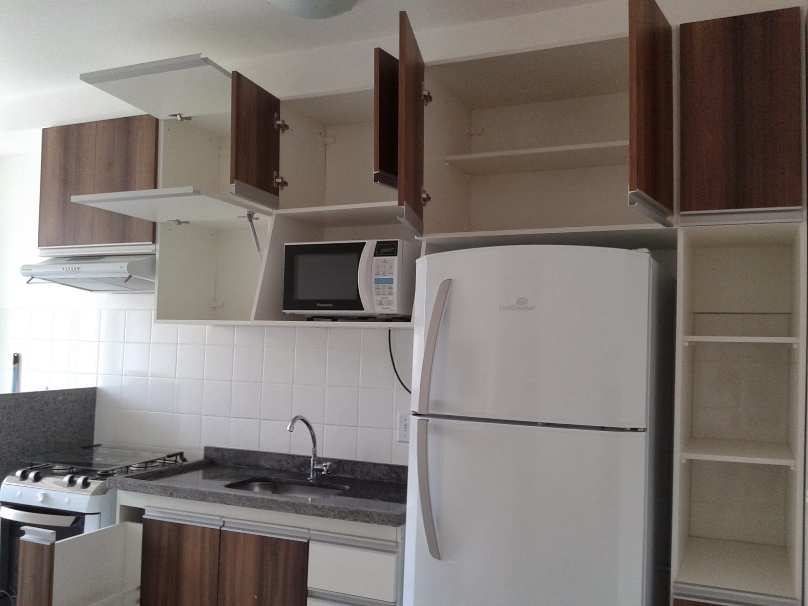 #5E4D40 wdplanejados: Mais um Projeto de Cozinha para Apartamento Completo  1600x1200 px Projeto De Cozinha Em Apartamento #2877 imagens