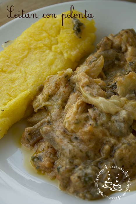 seitan con polenta (ricetta vegetariana)