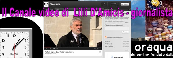 CANALE  VIDEO DI LILLI D'AMICIS