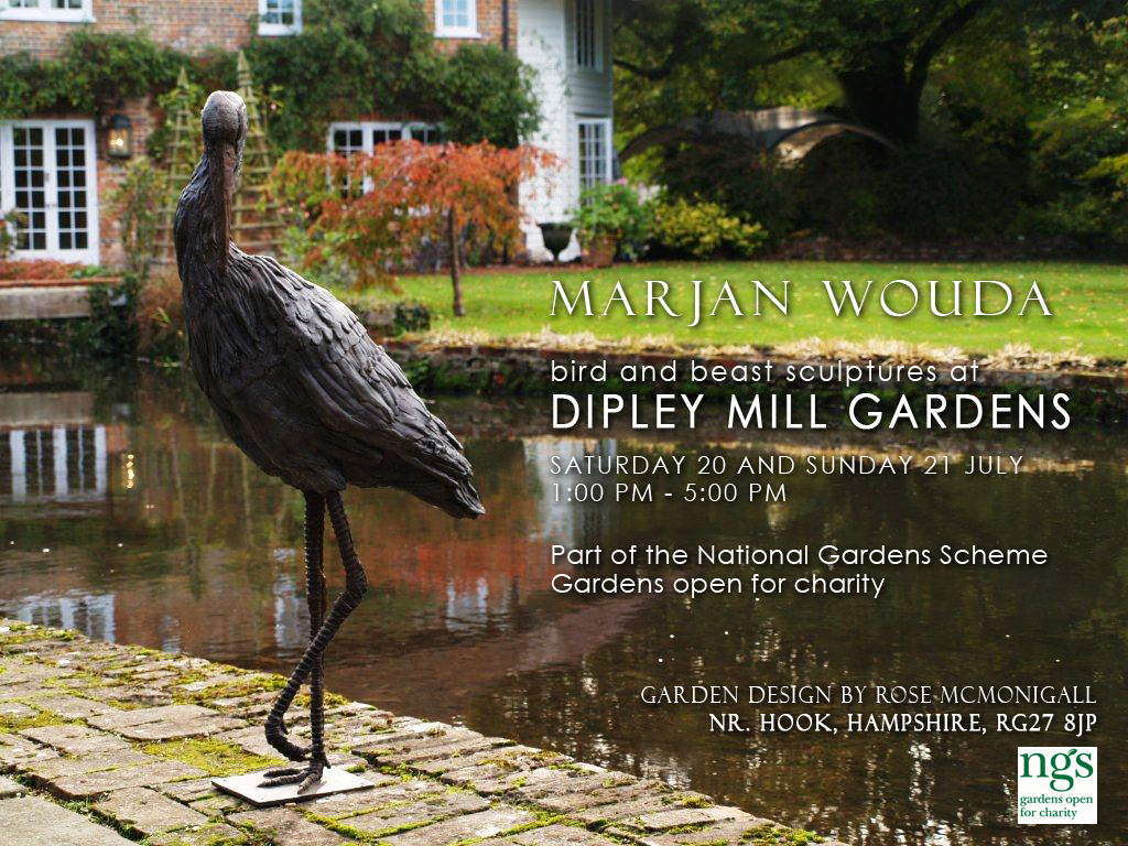 Marjan Wouda Sculpture: Bird and Beast Sculptures at Dipley Mill Gardens