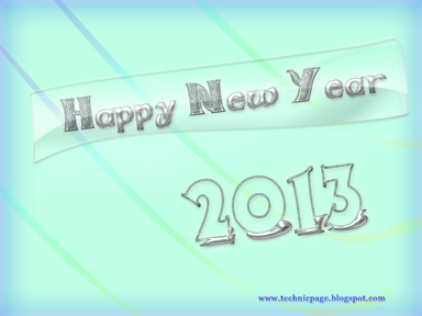 silver color 2013 glassy new year 2013 wallpaper