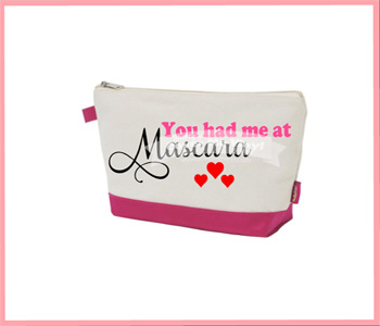 You had me at Mascara Cosmetic Bag