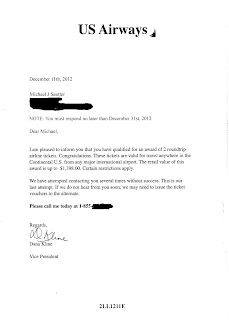 scan of scam letter