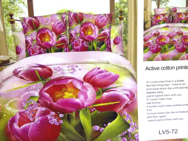 Sprei Jepang Motif Bunga Tulip Merah