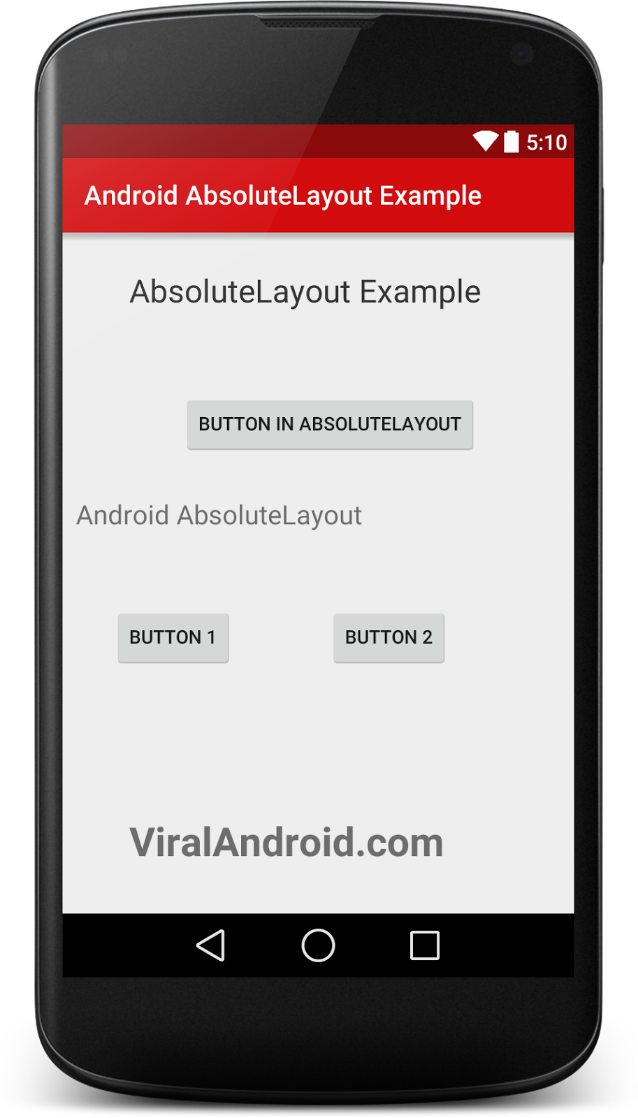 Android Absolute layout Example