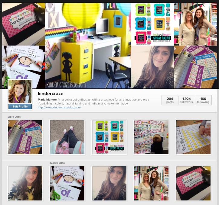 follow Kinder-Craze on Instagram