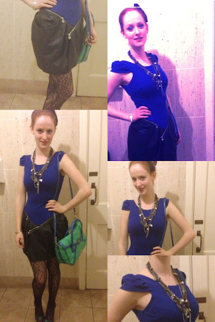 Alt = Lipsy London - Blue, leather