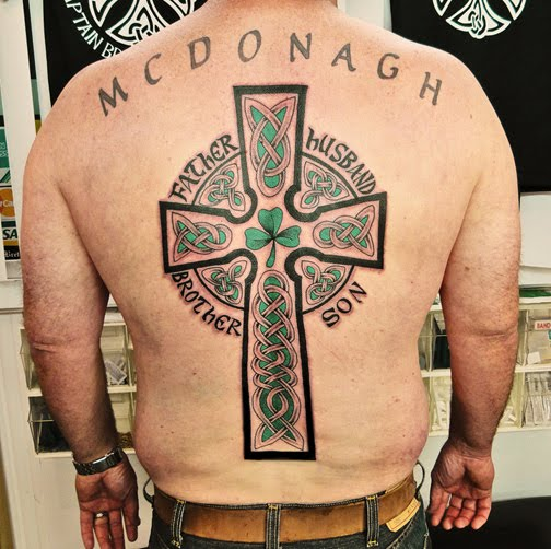 tribal cross tattoos for men. Gothic Tribal Cross Tattoos