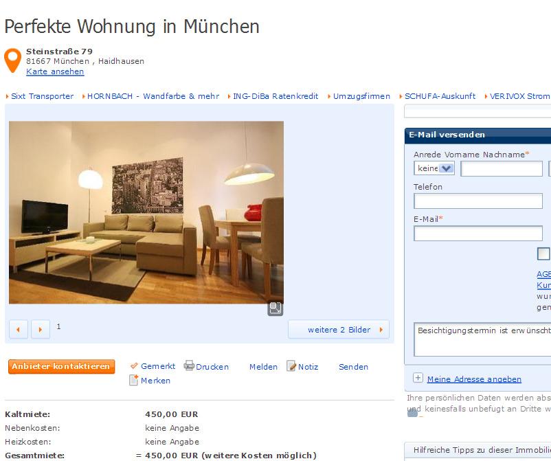 Perfekte Wohnung in München ~ Perfekte Wohnung in ...