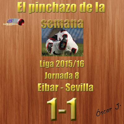 Eibar 1-1 Sevilla. Liga 2015/16. Jornada 8. El pinchazo de la semana.