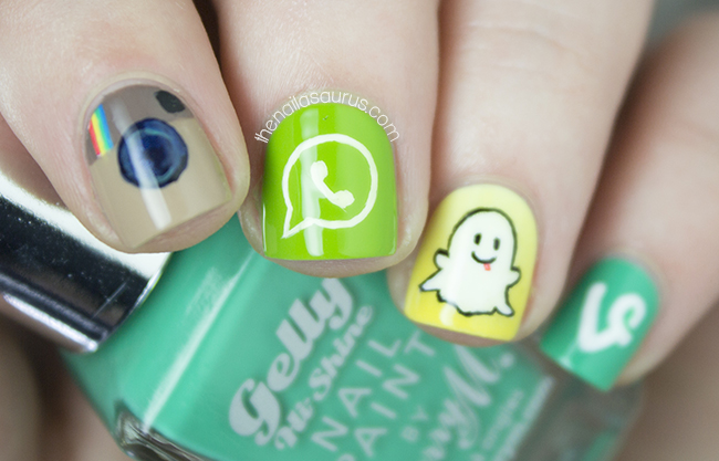 Social Media Apps Nail Art The Nailasaurus Uk Nail Art Blog
