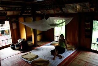 Nuestra habitación en el alojamiento autóctono de Mai Chau.