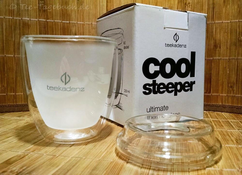 Teekadenz - doppelwandiges Teeglas mit Deckel