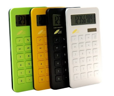CENTRUM LINK - NEW ECO GIFTS - CORN PLASTIC 10 Digits ( DUAL POWER ) CALCULATOR