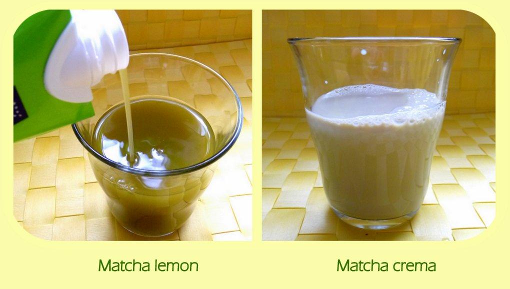 Matcha crema und Matcha lemon