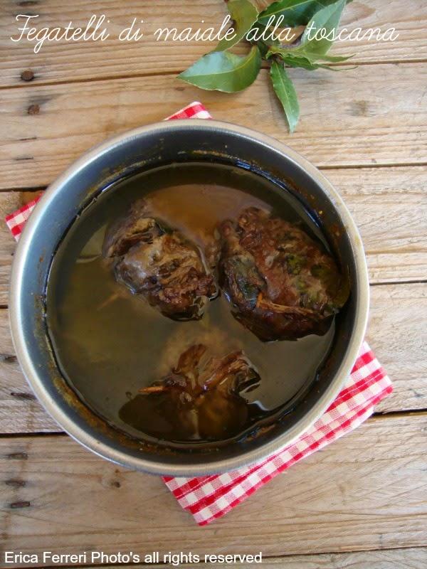 Ricetta dei fegatelli di maiale toscana