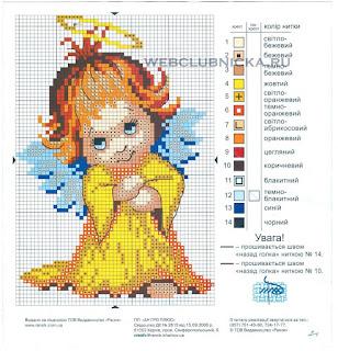 Вышивка бисером, схемы бесплатно: девочка ангелочек