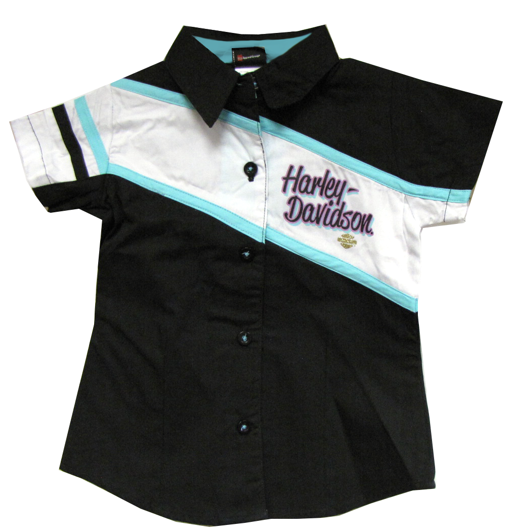 http://www.adventureharley.com/harley-davidson-toddler-girls-shirt-black-white-mint-green