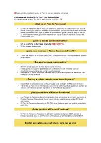 Plan asociado de pensiones CCOO