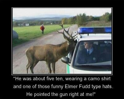 Funny Hunting Moose Policeman Picture Was About Five Ten Wearing