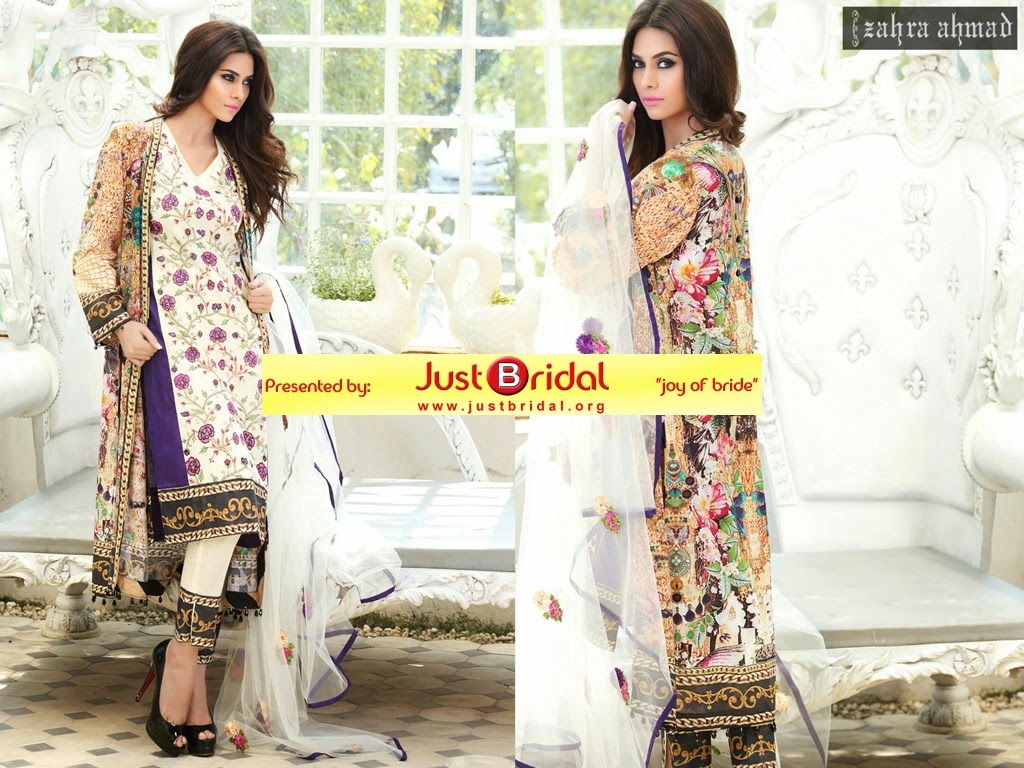 zahra ahmad summer lawn collection 2015