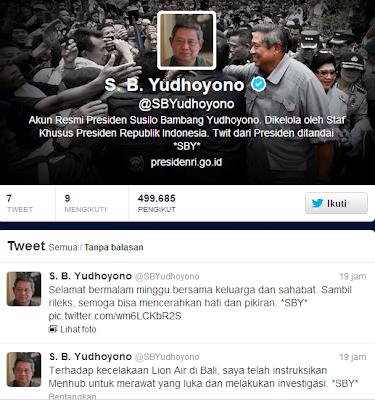 SBY Siap Layani Ocehan Lucu hingga Sinis di Twitter