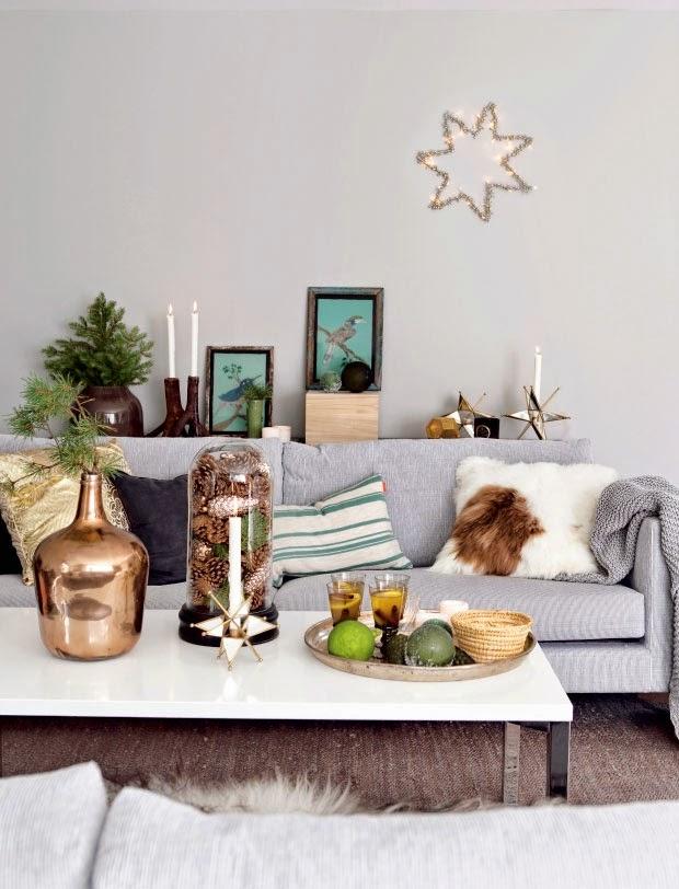 Boho deco chic la navidad verde de un piso n rdico for Decoracion navidad piso pequeno