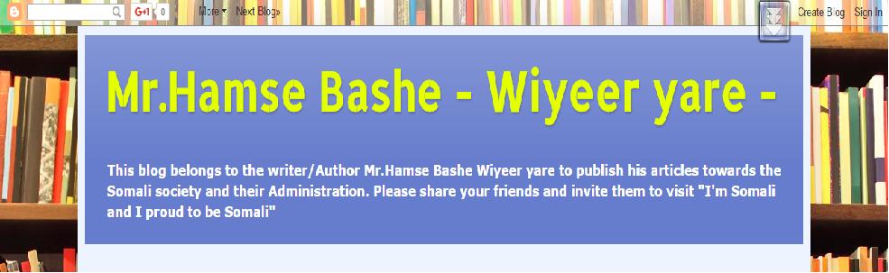 -Waayaha Nolosha- Wiyeer-yare-