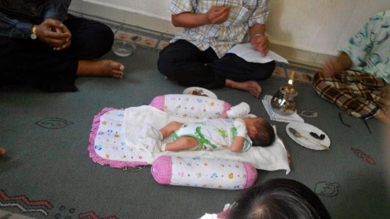 Majlis cukur jambul & rambut serta tahnik cucu Mama.. Ammar Qayyum