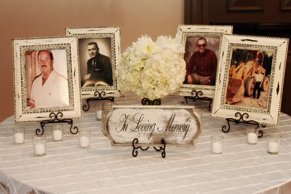 Angee s eventions honoring deceased loved ones during wedding