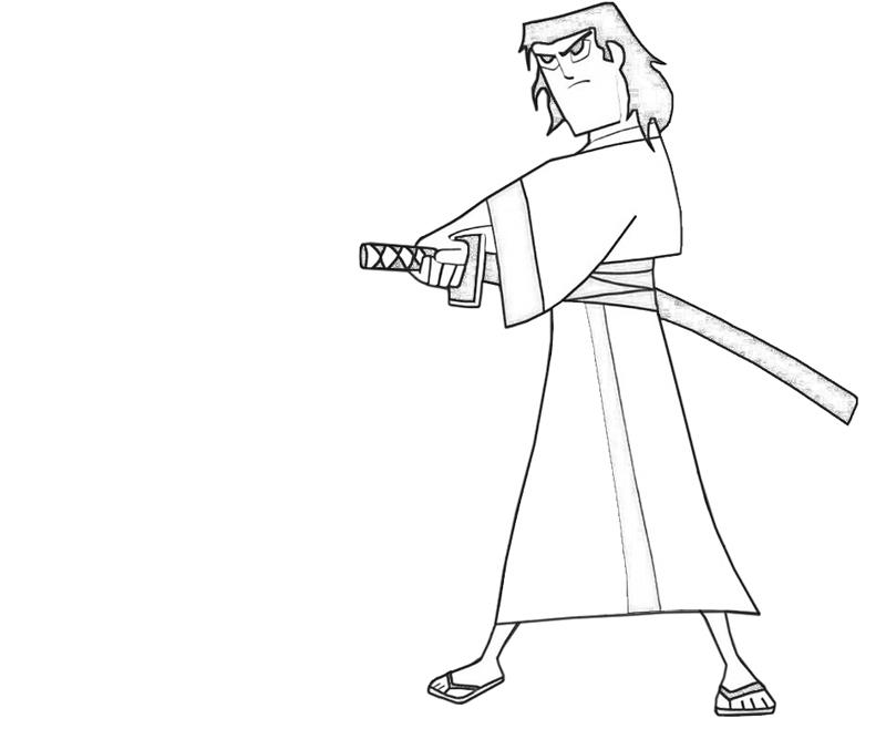 samurai-jack-swordman-coloring-pages