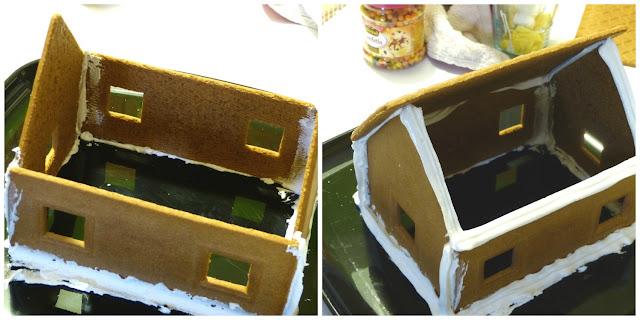 Formando la casita de jengibre