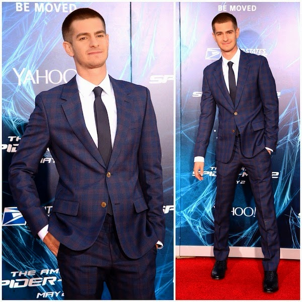 Andrew Garfield in Alexander McQueen -  'The Amazing Spider-Man 2' Premiere, NYC
