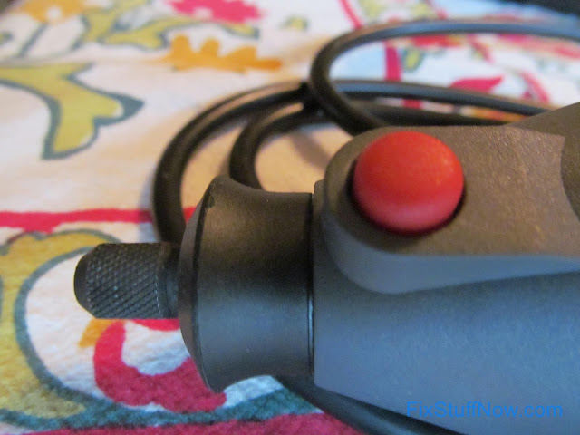 Master Mechanic Rotary Tool - Closeup Of Spindle Lock Button