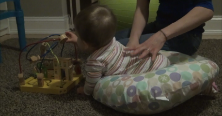 My Torticollis Baby Supported Crawling Position 2