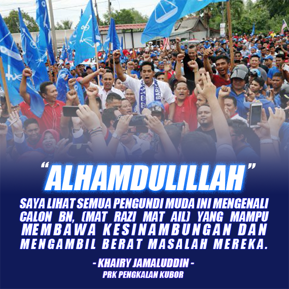 Khairy Optimis Orang Muda Sokong Barisan Nasional #pengkalankubor #bn4prk