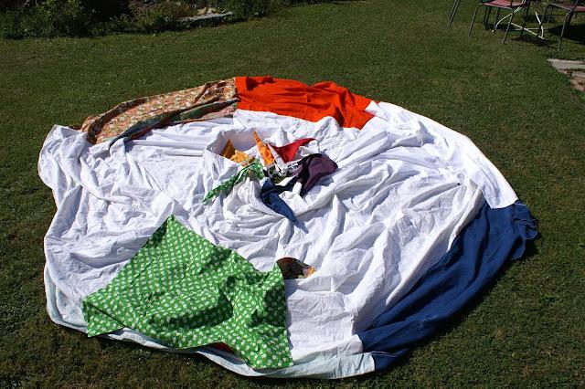 selber nähen Tipi Zelt für den Garten