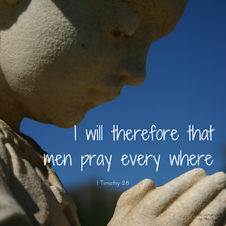 I will therefore that men pray every where, lifting up holy hands, without wrath and doubting. 1 Timothy 2:8