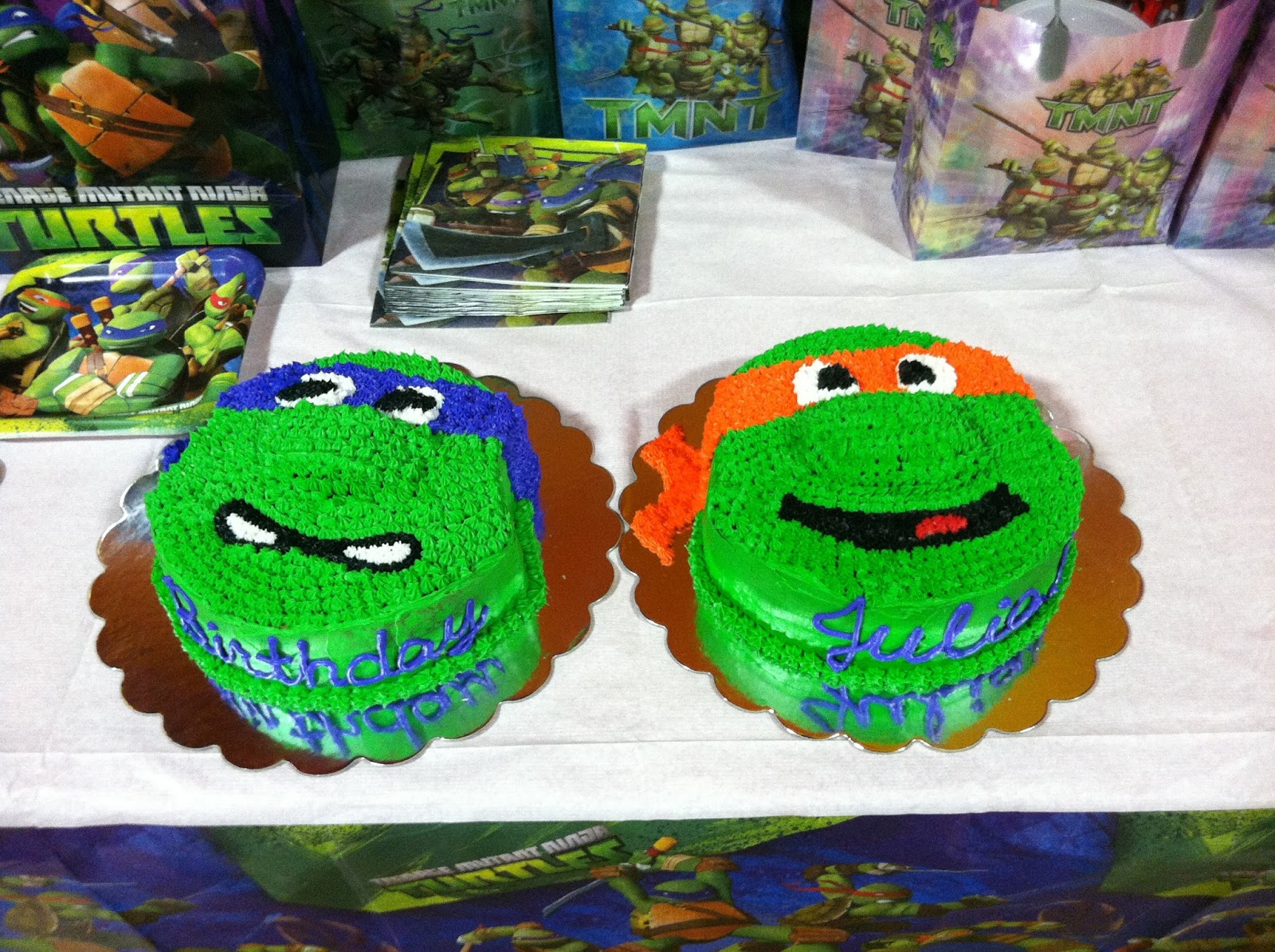 how to make a ninja turtle head cake