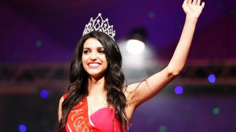 Fatma-Zohra Sabrine Chouib, 20 ans, élue Miss Algérie à Alger, le 5 septembre 2014
