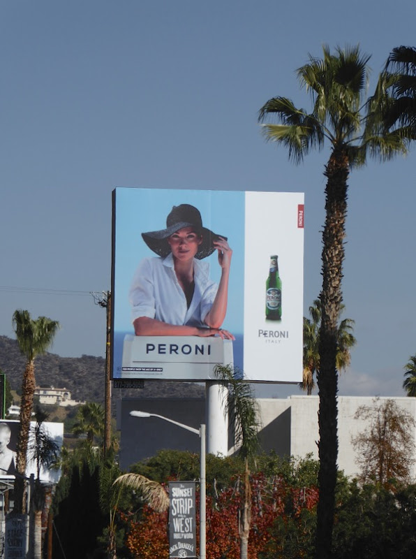 Peroni beer sun hat billboard
